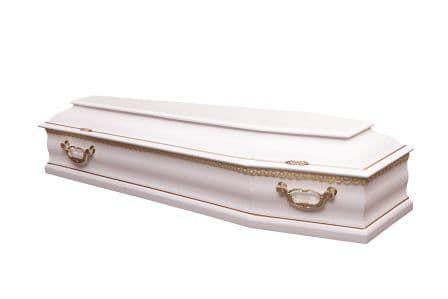 Гроб лакированный М-Белая Скрипка