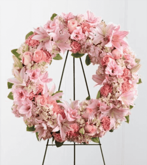 Венок из живых цветов «Нежность»