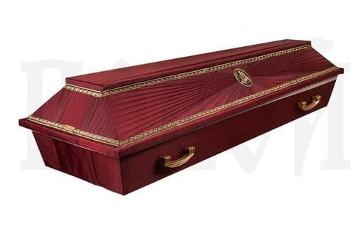 Гроб обитый тканью №13 бордовый