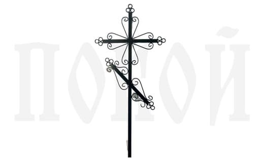 Крест металлический православный