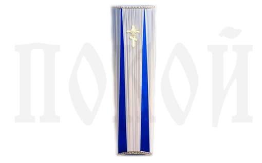 Гроб обитый тканью М-ШШС