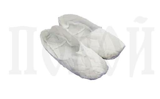Тапочки ритуальные белые