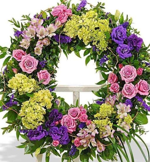 Венок из живых цветов «Торжественность»