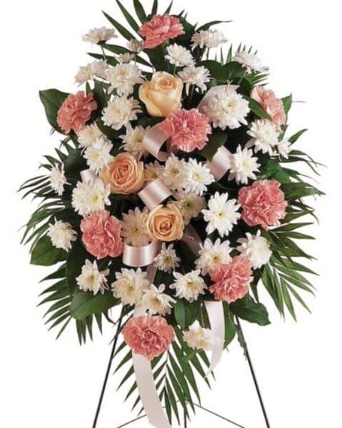 Венок из живых цветов «Изысканность»