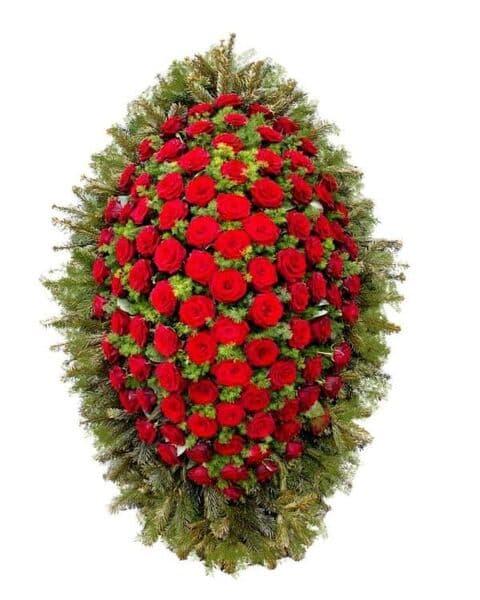 Венок из живых цветов «Сдержанность»