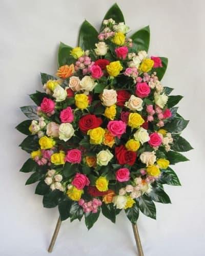 Венок из живых цветов «Воспоминание»